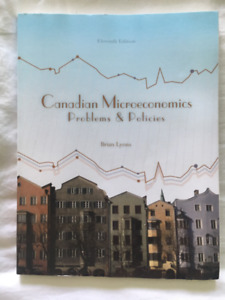 TEXTBOOK - Canadian Microeconomics Problems & Policies - 11th Ed