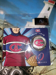 Montreal Canadiens centennial 2009 50 cent coins