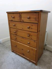 Antique solid Oak wood drawer
