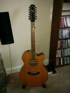 Yamaha 12 string acoustic-electric guitar