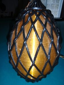 Vintage Spun Lucite Hanging Swag Lamp-reduced price