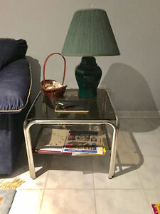 3 Coffee Tables with Glass Table Tops + 2 Solid Wood Side Tables