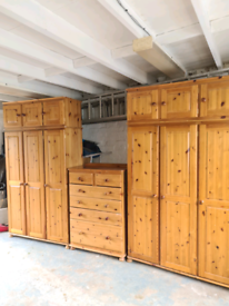 Wardrobes and Chester drawers and small drawers