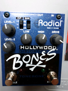 RADIAL HOLLYWOOD BONES DISTORTION PEDAL