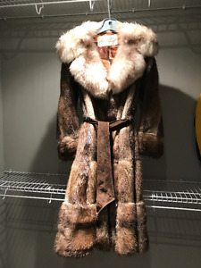 Muscrat Fur Coat - Approx. Size 10-12