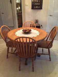 Solid Maple Round Table, Corner and Side China Cabinets