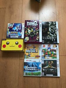 Lot console NEW 2DS XL + jeux 3DS