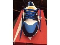 Nike air huaraches blue white