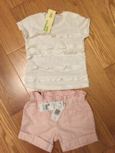 Brand new Benetton set for a baby girl 9-12 months
