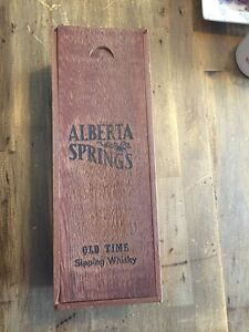 Vintage Wood Box / Alberta Springs Whiskey Box