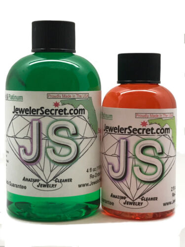 AMAZING JEWELER SECRET GOLD AND PLATINUM JEWELRY CLEANER-Cleans Instantly