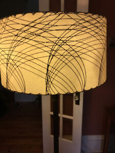 Vintage floor lamp with beautiful shade + marble base