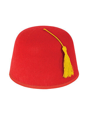 New Adult Red Fez Moroccan Turkish Hat Tommy Cooper Fancy Dress Up Xmas! ()