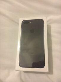 Apple iPhone 7 plus 256gb black new sealed on o2