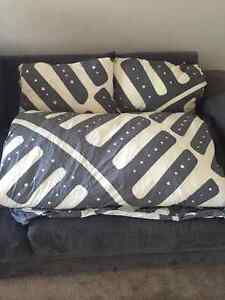Ikea Comforter (King Size), 2 Pillows + Sheet and Pillow Covers