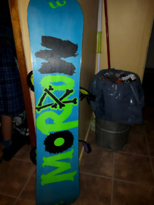 Snowboard with boots and binding