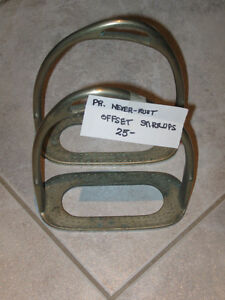 ENGLISH RIDING STIRRUPS [1 PR.]...OFFSET ...NEVER RUST