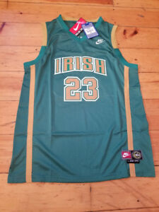 RETRO LBJ High School NIKE- St. Vincent IRISH - Green-New/w tags