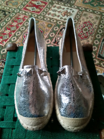 Ladies silver shoes brand new