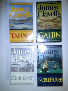 """Lot of 4 James Clavell """"The Asian Saga"""" Novels (used)"""
