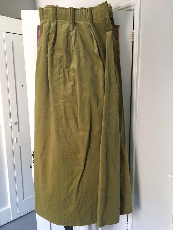 Velvet curtain. Heavy, lined.