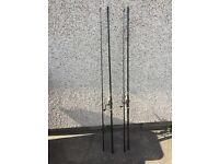 12ft Oakwood carp fishing rods