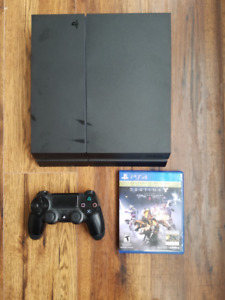 PS4 500Gb with game, controller, all hookups