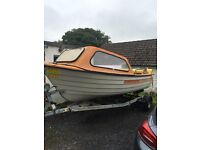 16ft fishing boat with trailer