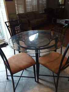 4 chairs and breakfast table from Ashleys Kitchener / Waterloo Kitchener Area image 1