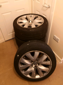 """19"""" BMW alloys, with legal tyres."""