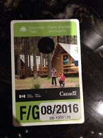National Banff Park Pass F/G August 2016 unsigned