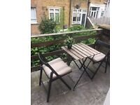Garden Table set (table + 2 chairs)