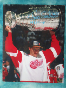 TOMAS SANDSTROM Detroit Red Wings Signed 8x 10 Photo W/COA