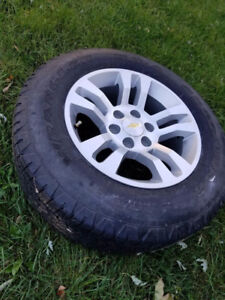 BRAND NEW! Never mounted GM truck rims with sensors and tires.
