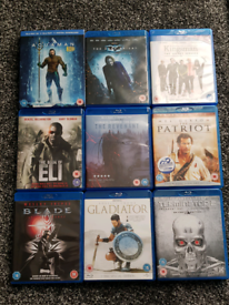 Blu-Ray films x 9 Excellent condition