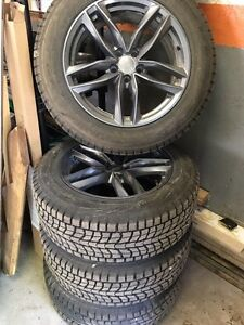 Dunlop winter tyres 235/60 R 18 and alloy wheels