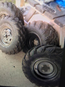 NEW 4 WHEELER TIRES AND RIMS