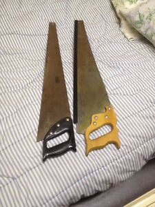2 Hands Saws 1 Regular and 1 is a Rip saw  $40.00 each