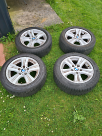 """Bmw 1 series 16"""" wheels and tyres"""