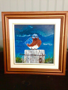 Oil Painting - Blue Bird