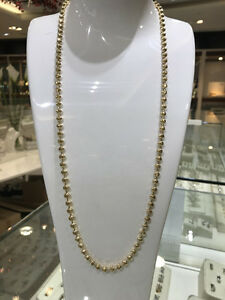 10k Yellow Gold Moon Cut Chain 28 inches 5 mm 40.3 gr