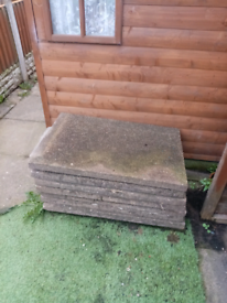 Ex council house slabs... £4 each