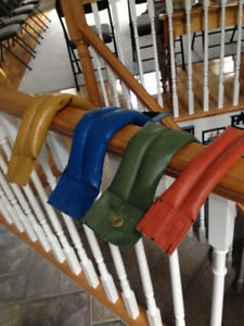 Strap on leather weights