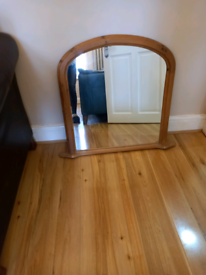 Pine Mantal mirror