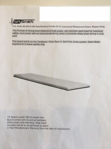 The Frontier III 10 ft Commercial Replacement Diving Board
