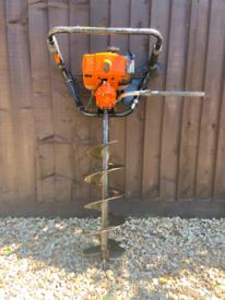 Stihl post hole auger