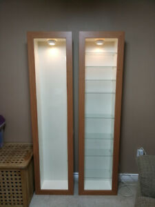 Floating Ikea display cabinets