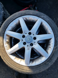 Set of 4 Mercedes c class alloy wheels rim with tyre