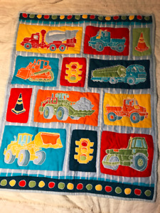 Truck and Digger Hand Quilted Blanket