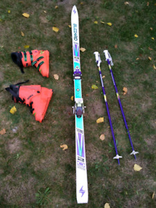 Ski, boots and poles